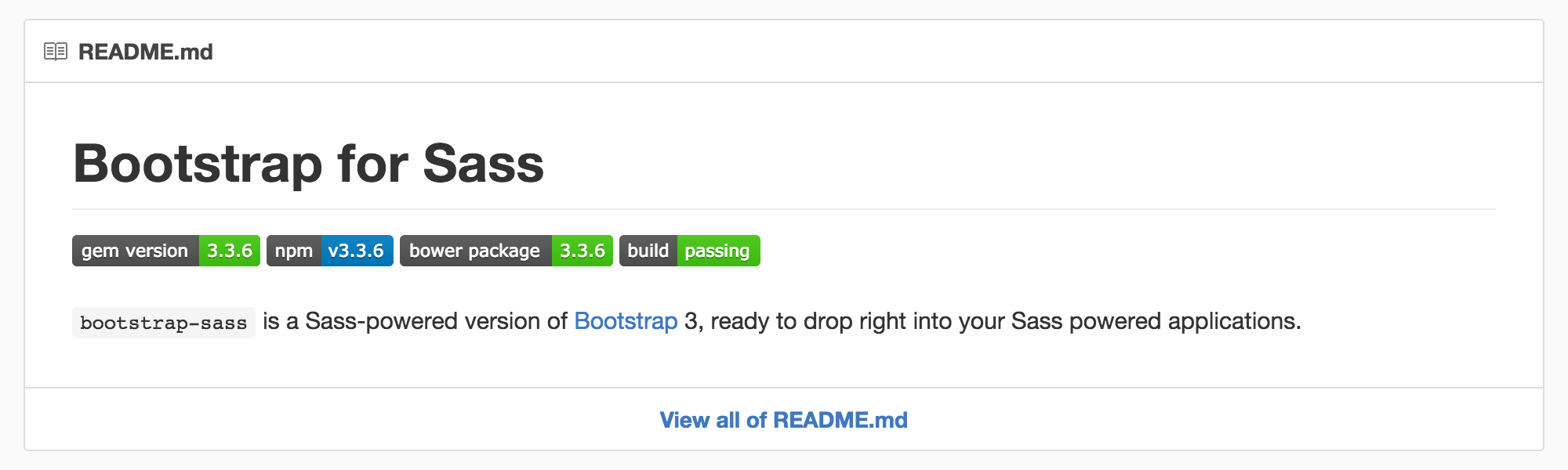twbs bootstrap sass