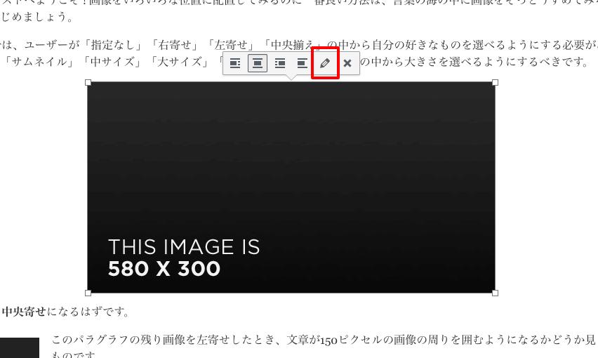 ビジュアルエディタで画像のalt属性を修正・変更する場合〜その2