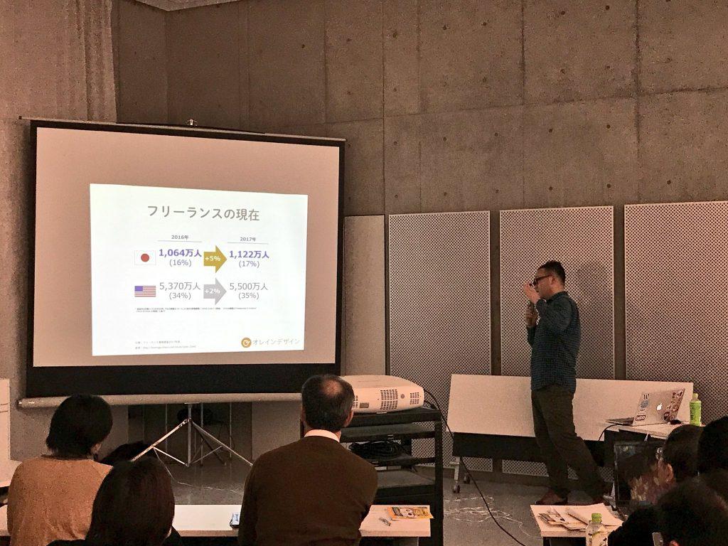 画像:第6回WordBench岐阜で登壇している場面