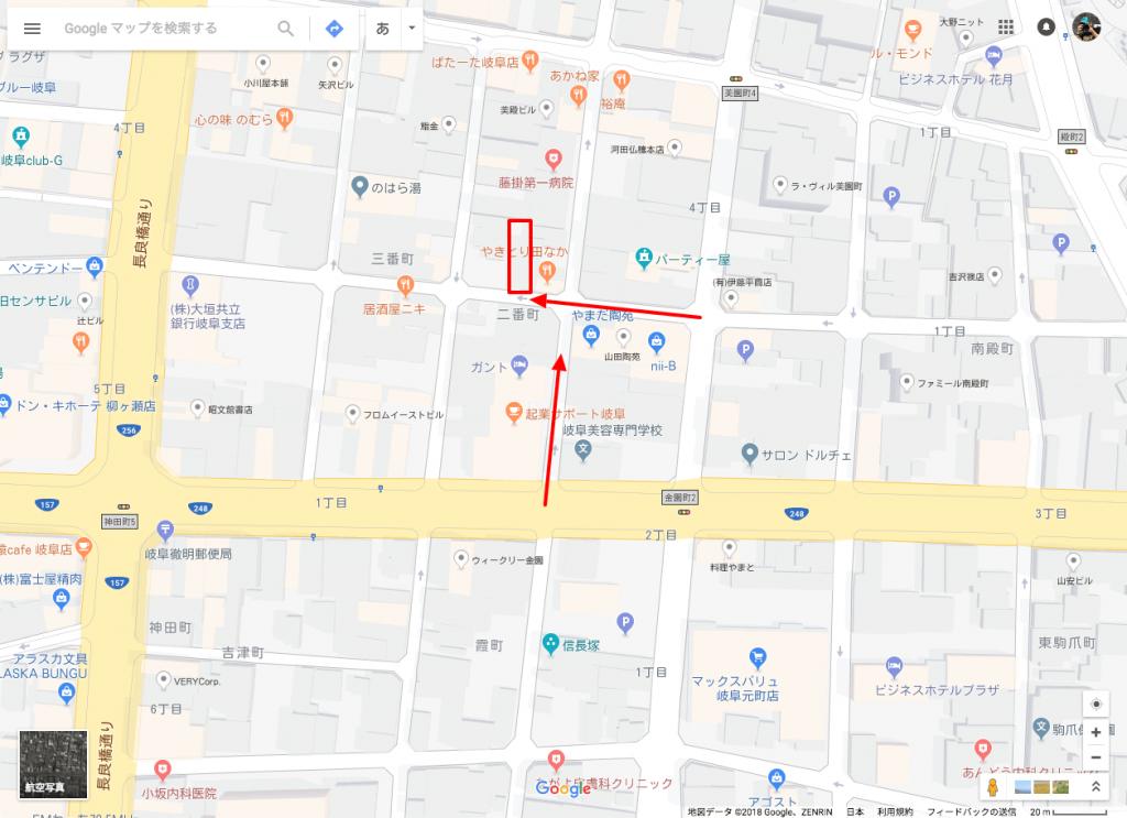パーキングKOYOENへのアクセスで気をつける一方通行がわかるMAP