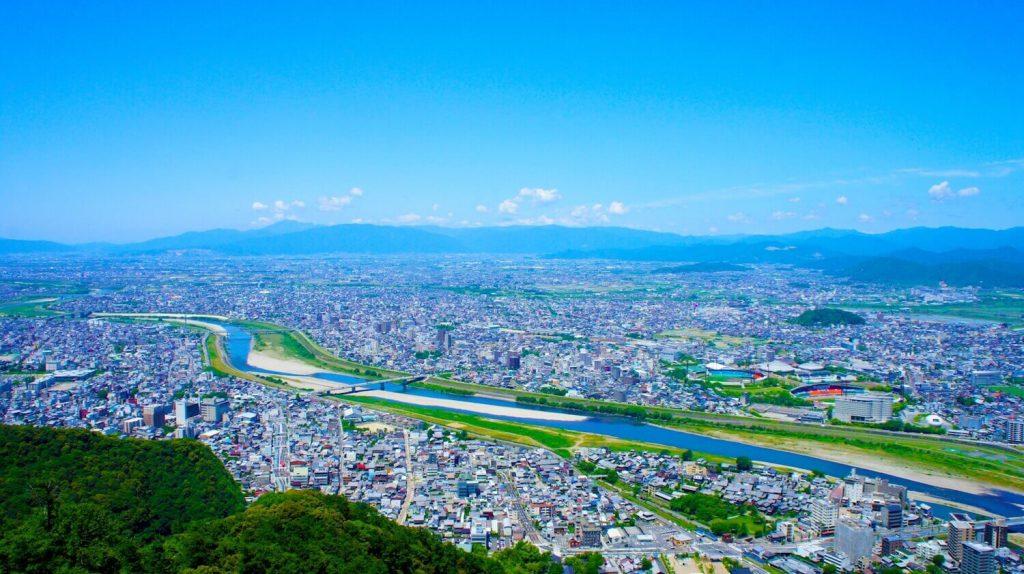 岐阜城からの岐阜市の風景