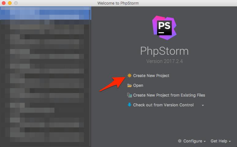 PhpStormで新しいプロジェクトを作る
